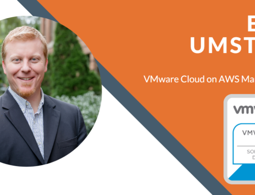 Eric Umstead Attains VMware Cloud on AWS Management Certification
